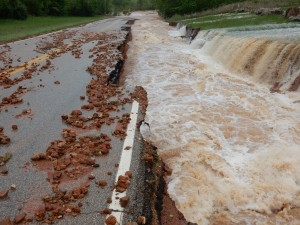 Flooding at Clearwater Lake